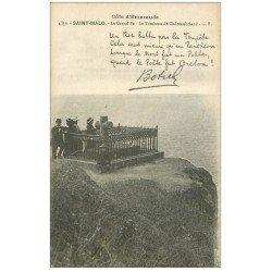 """carte postale ancienne 35 SAINT-MALO. Grand Bé. Chateaubriand timbrée qu""""""""en 1962..."""