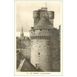carte postale ancienne 35 SAINT-MALO. Grand Donjon 357