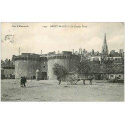 carte postale ancienne 35 SAINT-MALO. Grande Porte 1912