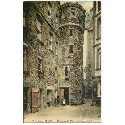 carte postale ancienne 35 SAINT-MALO. Maison Duchesse Anne 1918