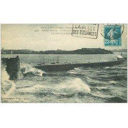 carte postale ancienne 35 SAINT-MALO. Môle 1926