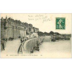 carte postale ancienne 35 SAINT-MALO. Môle Cale de Dinard 1912