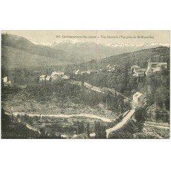 carte postale ancienne 05 CHATEAUROUX-les-ALPES. Le Village vu de St-Marcellin 1924
