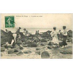 carte postale ancienne 35 SAINT-MALO. Pêche aux Crabes