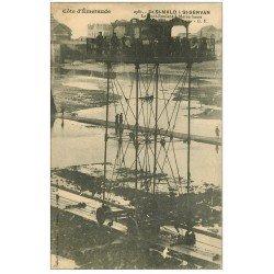 carte postale ancienne 35 SAINT-MALO. Pont-Roulant Marée basse