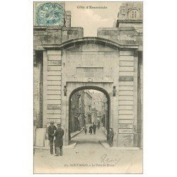 carte postale ancienne 35 SAINT-MALO. Porte Dinan 1904
