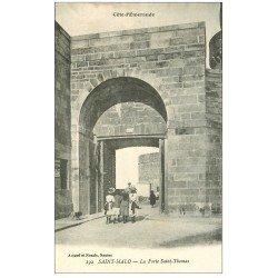 carte postale ancienne 35 SAINT-MALO. Porte Saint-Thomas