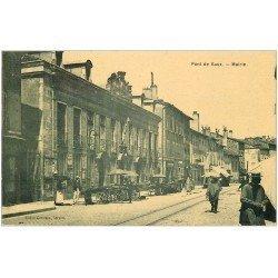carte postale ancienne 01 PONT-DE-VAUX. Mairie et Vendeurs de Quatre-Saisons