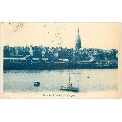 carte postale ancienne 35 SAINT-MALO. Quais 1927
