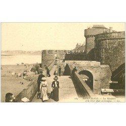 carte postale ancienne 35 SAINT-MALO. Remparts Tour Quic en Groigne