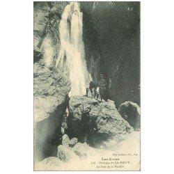 carte postale ancienne 05 Escaladeurs sur le Saut de la Pucelle 1926. Alpinisme
