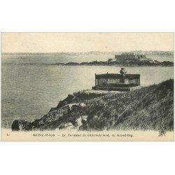 carte postale ancienne 35 SAINT-MALO. Tombeau Chateaubriand 12