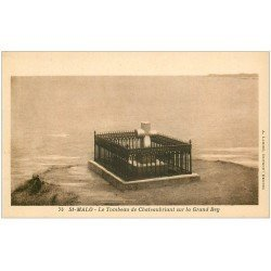 carte postale ancienne 35 SAINT-MALO. Tombeau Chateaubriant 74