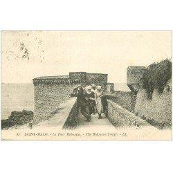 carte postale ancienne 35 SAINT-MALO. Tour Bidouane 1925