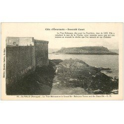 carte postale ancienne 35 SAINT-MALO. Tour Bidouane Grand Bé 50