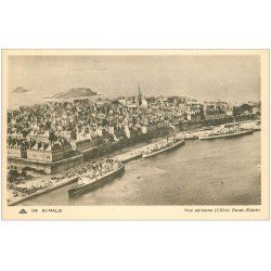 carte postale ancienne 35 SAINT-MALO. Vue aérienne
