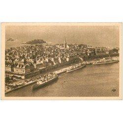 carte postale ancienne 35 SAINT-MALO. Vue d'Avion 198