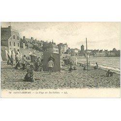 carte postale ancienne 35 SAINT-SERVAN. La Plage des Bas-Sablons