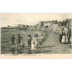 carte postale ancienne 35 SAINT-SERVAN. Plage des Bas-Sablons
