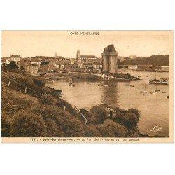 carte postale ancienne 35 SAINT-SERVAN. Port et Tour