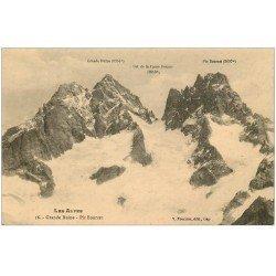 carte postale ancienne 05 Grande Ruine. Pic Bourcet et Col de la Casse Déserte