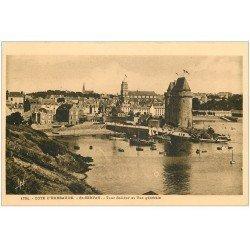 carte postale ancienne 35 SAINT-SERVAN. Port et Tour Solidor 1791