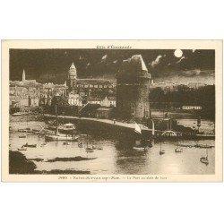 carte postale ancienne 35 SAINT-SERVAN. Port Saint-Père clair de Lune