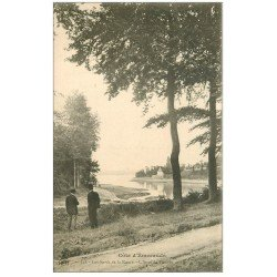 carte postale ancienne 35 TROCTIN. Visiteurs à l'Anse