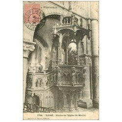 carte postale ancienne 35 VITRE. Chaire Eglise 1905
