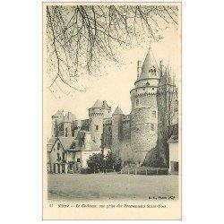 carte postale ancienne 35 VITRE. Château Promenades Saint-Yves