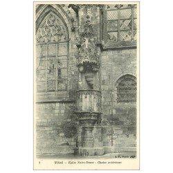 carte postale ancienne 35 VITRE. Eglise Notre-Dame Chaire extérieure