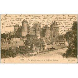 carte postale ancienne 35 VITRE. Route de Rennes 1917