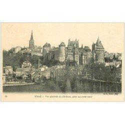 carte postale ancienne 35 VITRE. Vue Château