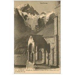 carte postale ancienne 05 LA GRAVE. Chapelle des Terrasses Grand Pic de la Meije