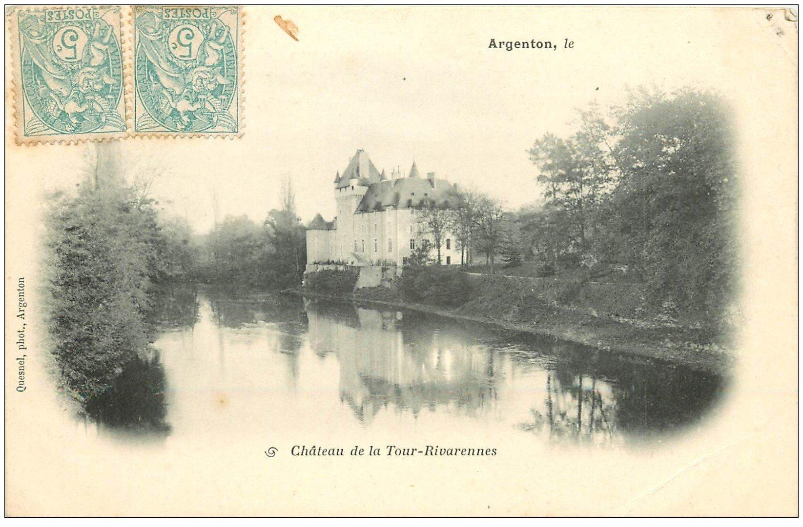 carte postale ancienne 36 ARGENTON. Château Tour-Rivarennes 1905