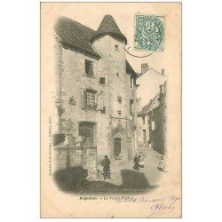 carte postale ancienne 36 ARGENTON. La Vieille Prison 1904