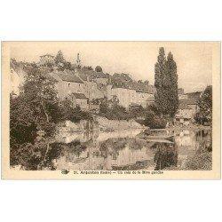 carte postale ancienne 36 ARGENTON. Rive gauche