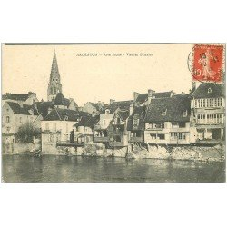 carte postale ancienne 36 ARGENTON. Vieilles Galeries 1914