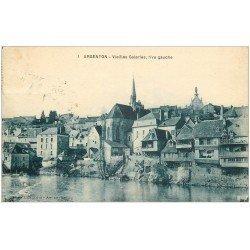 carte postale ancienne 36 ARGENTON. Vieilles Galeries 1929