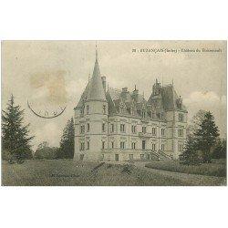 carte postale ancienne 36 BUZANCAIS. Château Boisrenault 1913