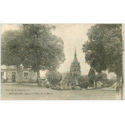 carte postale ancienne 36 BUZANCAIS. Place Mairie