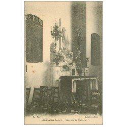 carte postale ancienne 36 CHABRIS. Eglise. Chapelle Souvenir 1923