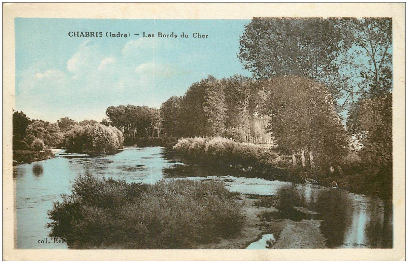 carte postale ancienne 36 CHABRIS. Le Cher 1935