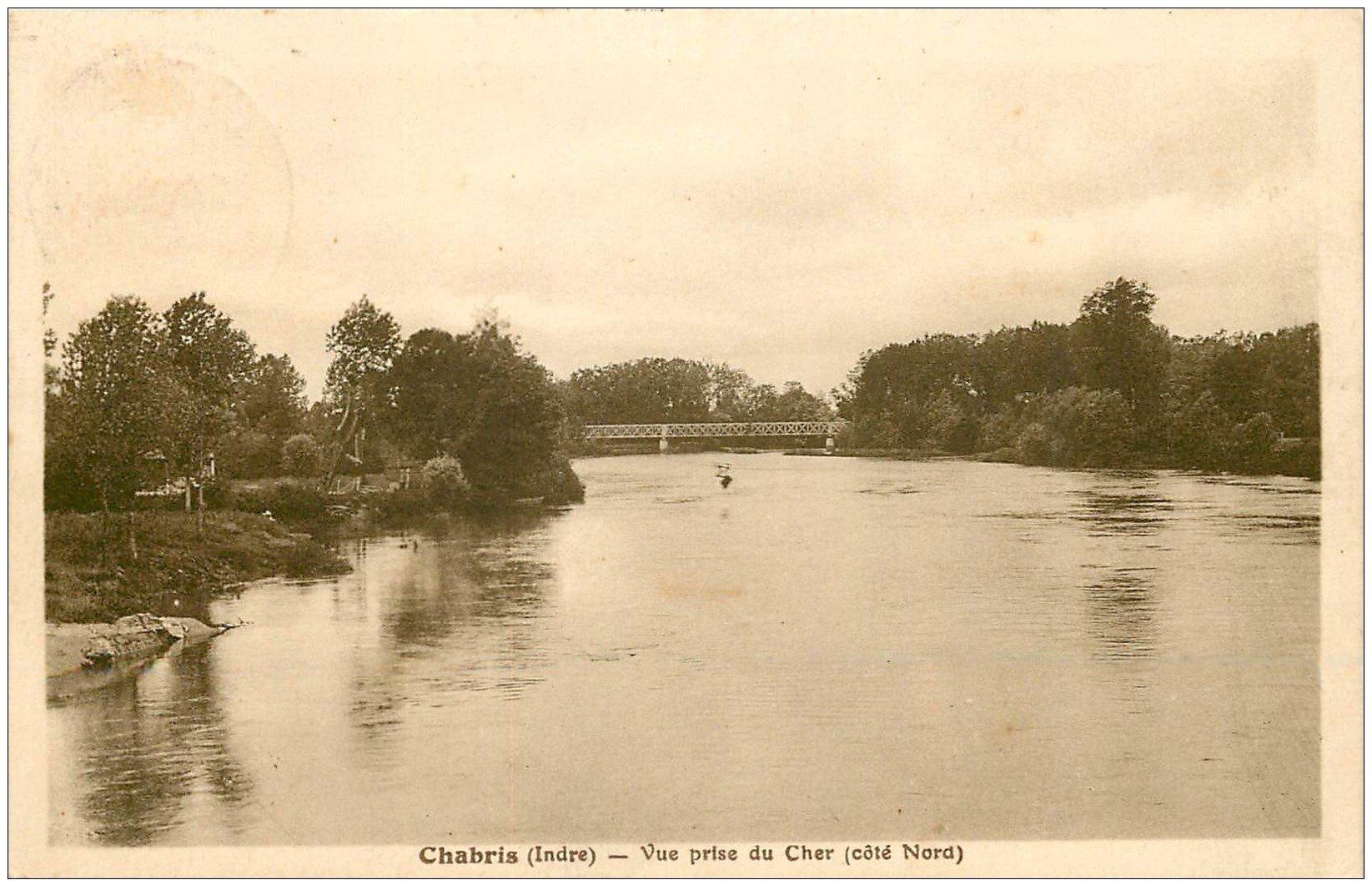 carte postale ancienne 36 CHABRIS. Le Cher 1938