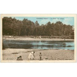 carte postale ancienne 36 CHABRIS. Plage 1933 animation