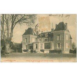carte postale ancienne 36 CHATEAU DES AULXJOUANNAIS 1909 avec lamas