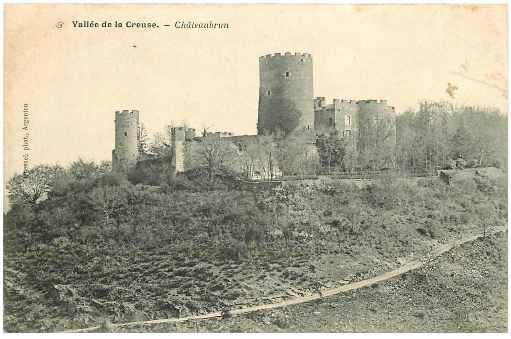 carte postale ancienne 36 CHATEAUBRUN 1904. Carte déliassée...