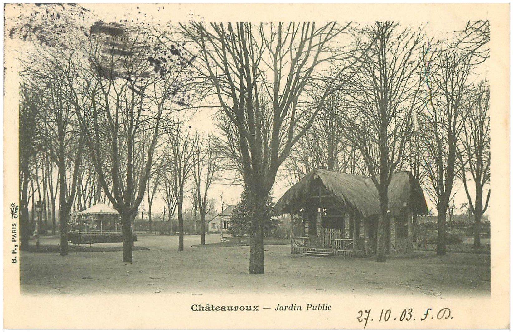 carte postale ancienne 36 CHATEAUROUX. Jardin Public 1903