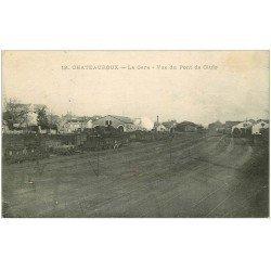 carte postale ancienne 36 CHATEAUROUX. La Gare 1916