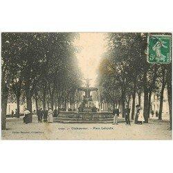 carte postale ancienne 36 CHATEAUROUX. Place Lafayette 1909